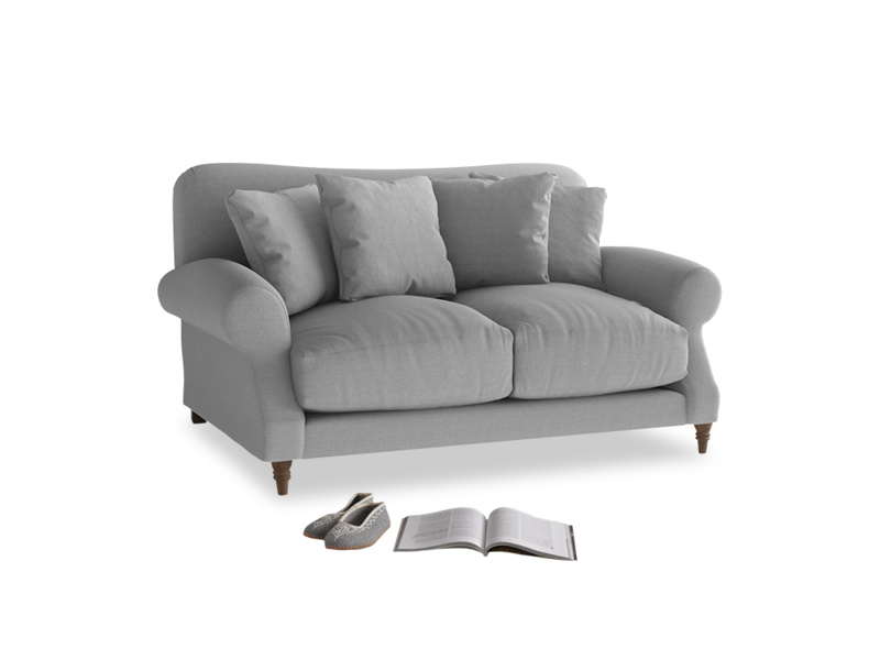 Small Crumpet Sofa in Magnesium washed cotton linen