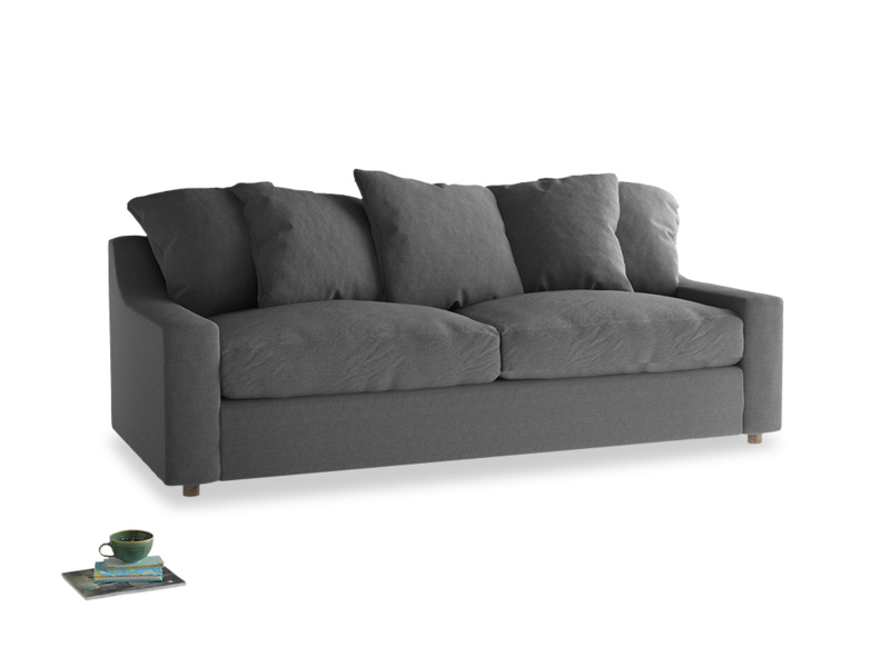 Large Cloud Sofa in Ash washed cotton linen