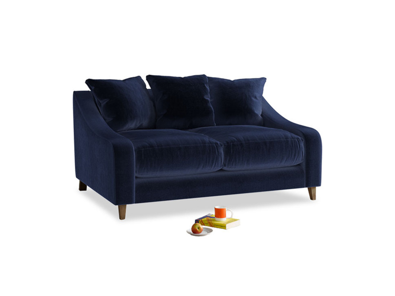 Small Oscar Sofa in Midnight plush velvet
