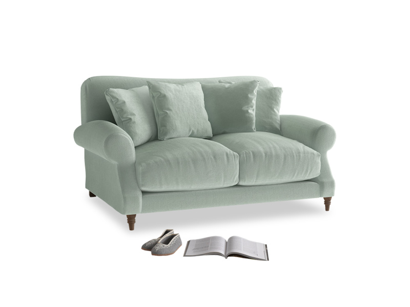 Small Crumpet Sofa in Mint clever velvet