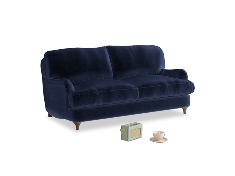 Small Jonesy Sofa in Midnight plush velvet