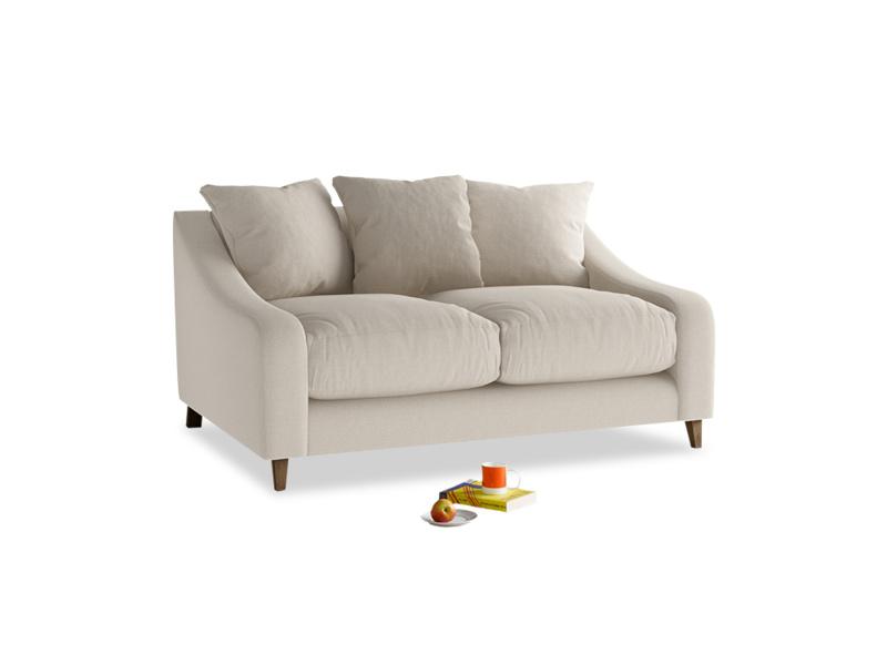 Small Oscar Sofa in Buff brushed cotton