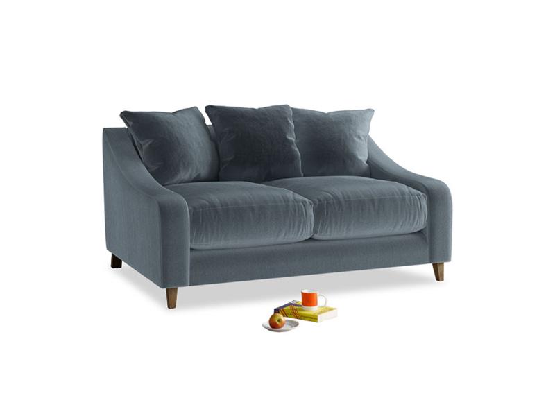 Small Oscar Sofa in Mermaid plush velvet