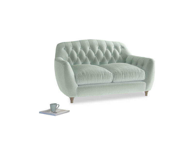Small Butterbump Sofa in Mint clever velvet