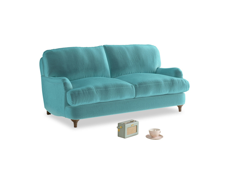 Small Jonesy Sofa in Belize clever velvet
