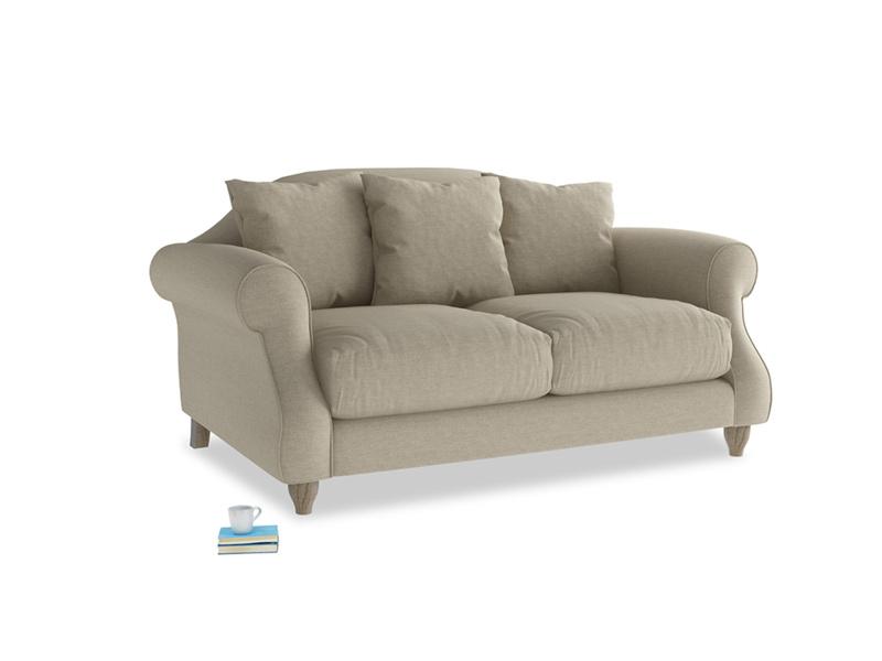 Small Sloucher Sofa in Jute vintage linen