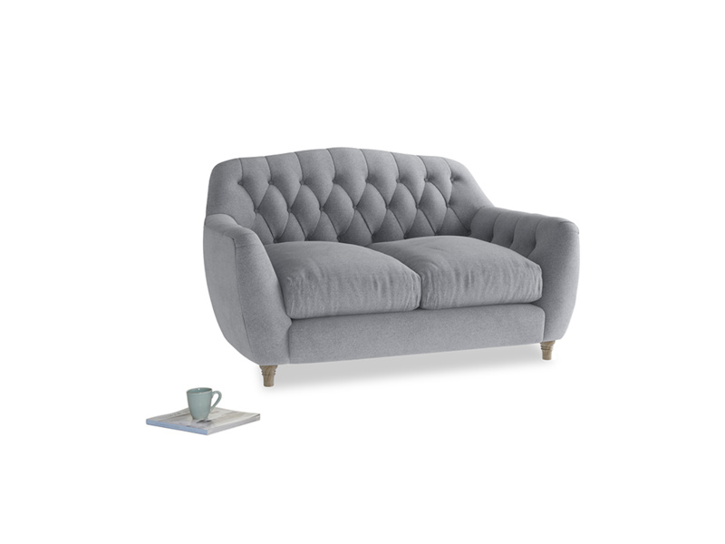 Small Butterbump Sofa in Dove grey wool