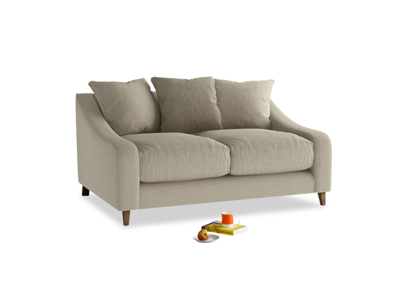 Small Oscar Sofa in Jute vintage linen