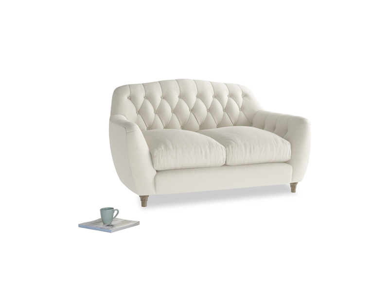 Small Butterbump Sofa in Oat brushed cotton