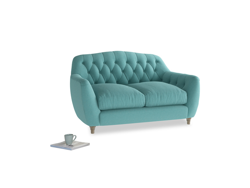 Small Butterbump Sofa in Peacock brushed cotton