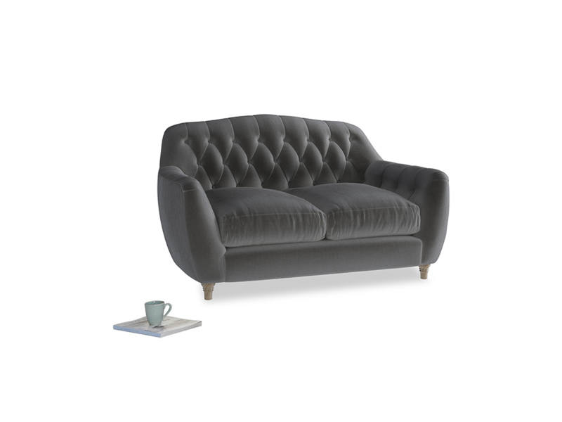 Small Butterbump Sofa in Steel clever velvet