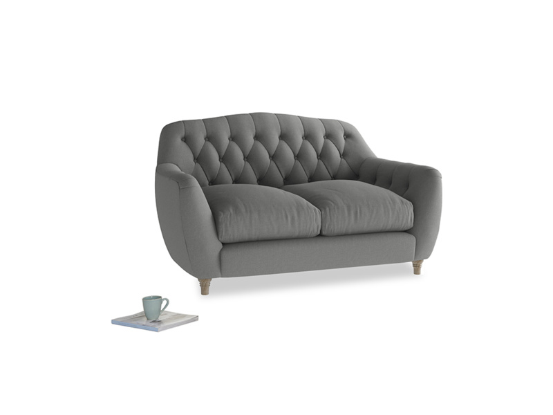 Small Butterbump Sofa in French Grey brushed cotton