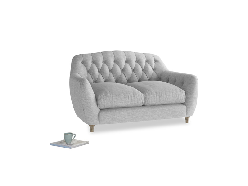Small Butterbump Sofa in Mist cotton mix