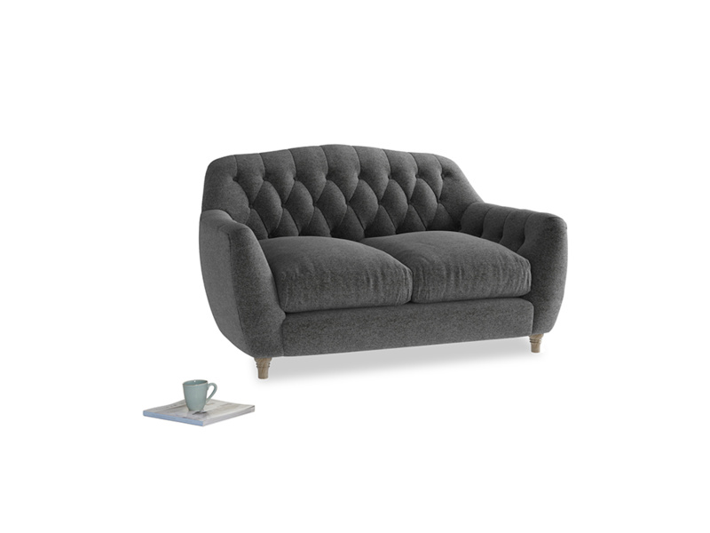 Small Butterbump Sofa in Shadow Grey wool