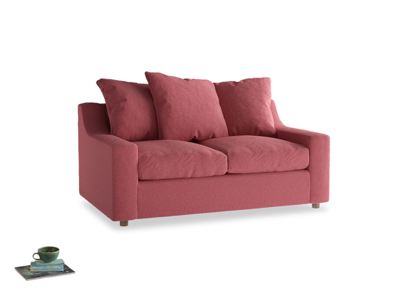 Small Cloud Sofa in Raspberry brushed cotton
