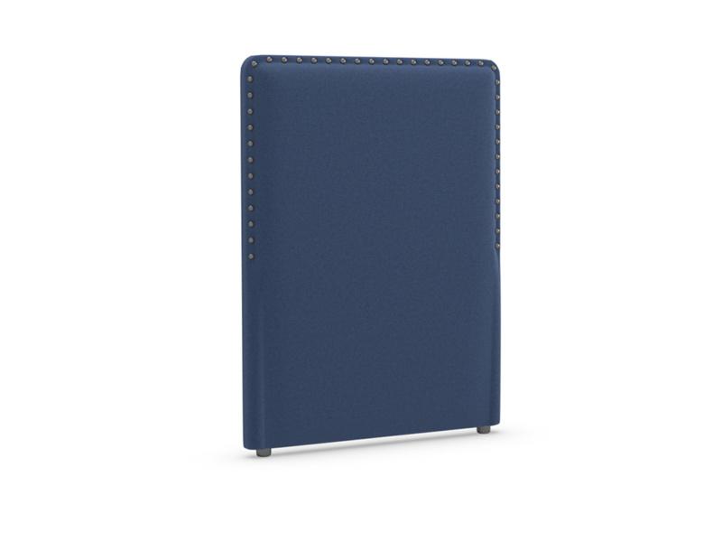 Single Smith Headboard in Ink Blue wool