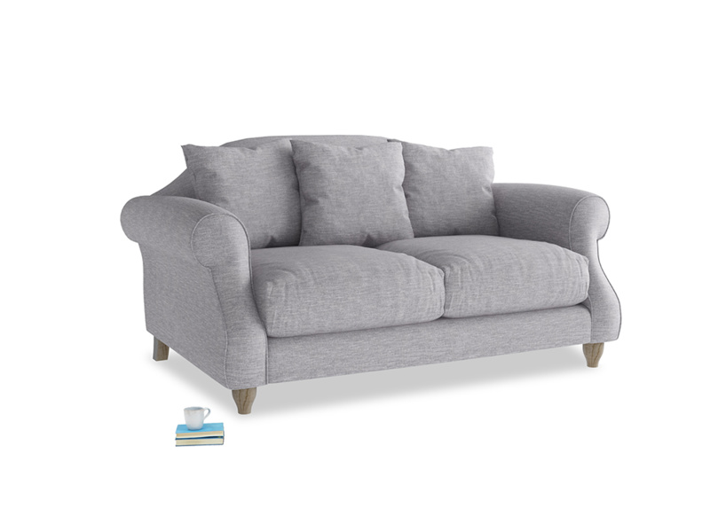 Small Sloucher Sofa in Storm cotton mix