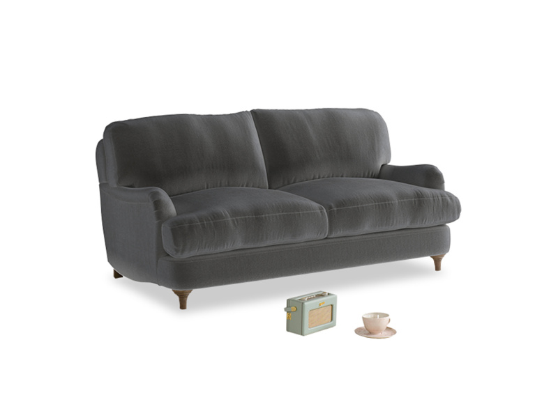 Small Jonesy Sofa in Steel clever velvet