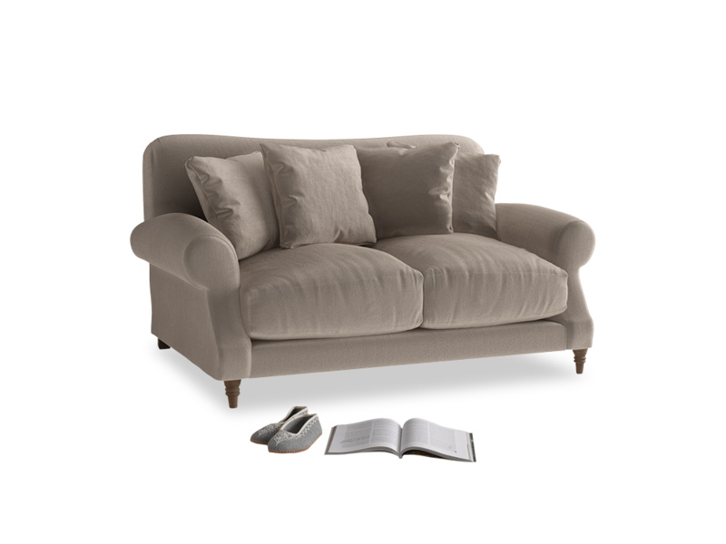 Small Crumpet Sofa in Fawn clever velvet