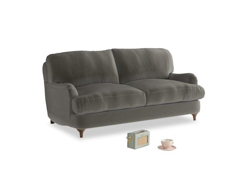 Small Jonesy Sofa in Slate clever velvet