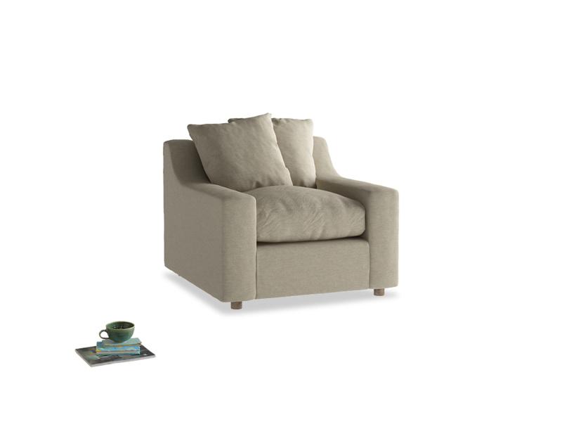 Cloud Armchair in Jute vintage linen