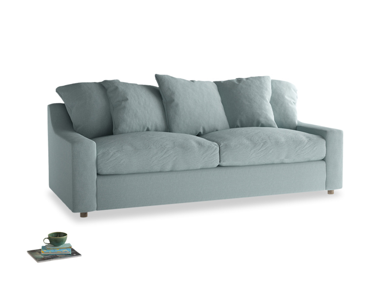Large Cloud Sofa in Smoke blue brushed cotton