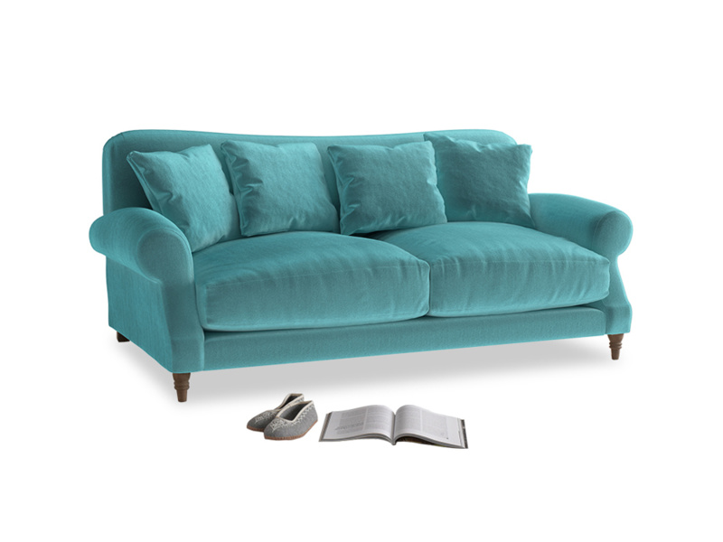 Medium Crumpet Sofa in Belize clever velvet