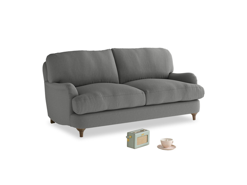 Small Jonesy Sofa in French Grey brushed cotton