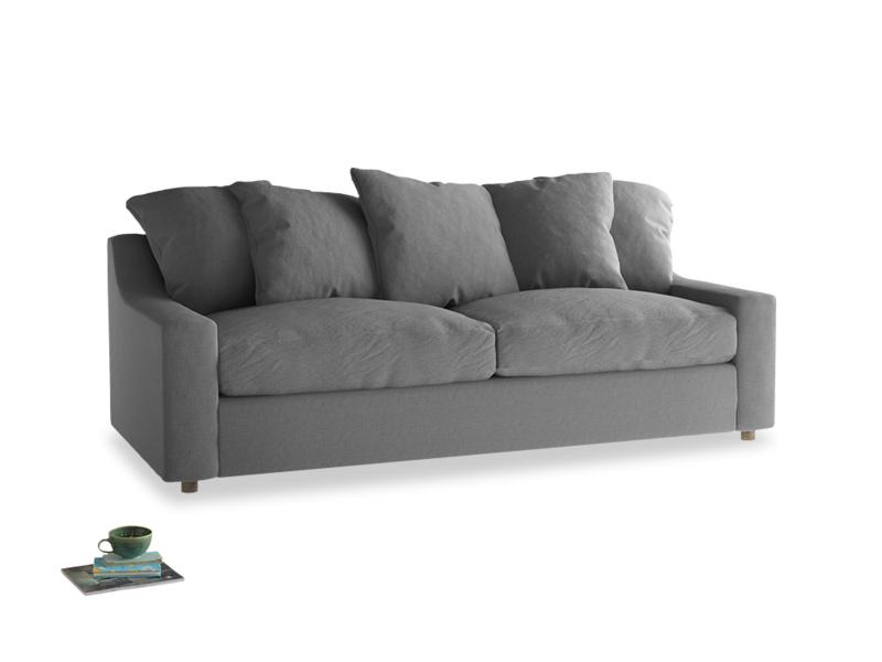 Large Cloud Sofa in Gun Metal brushed cotton