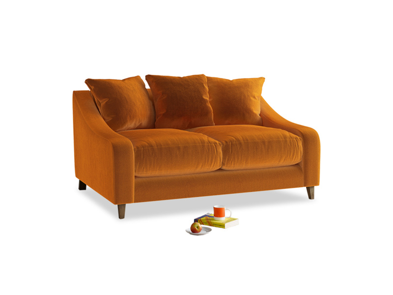 Small Oscar Sofa in Spiced Orange clever velvet