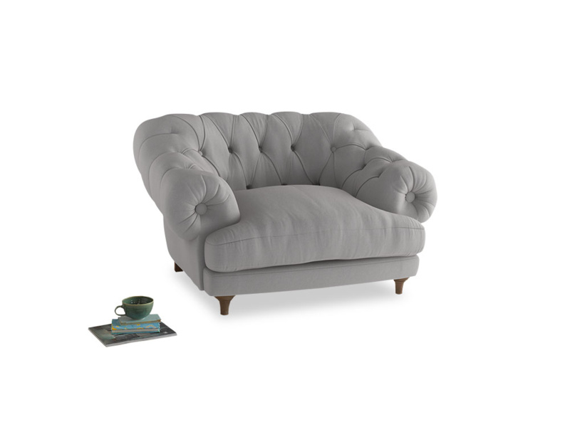 Bagsie Love Seat in Flint brushed cotton