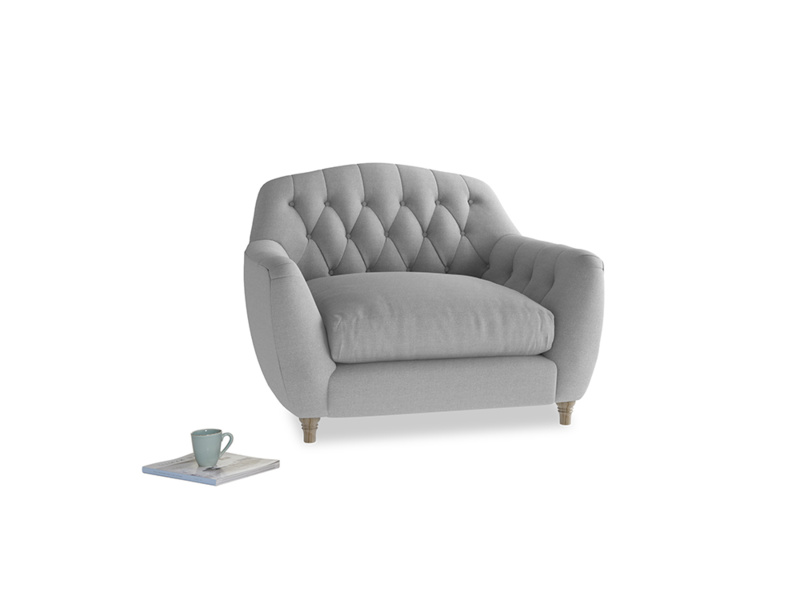 Love Seat Butterbump Love Seat in Magnesium washed cotton linen