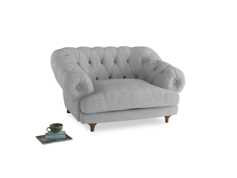 Bagsie Love Seat in Pebble vintage linen