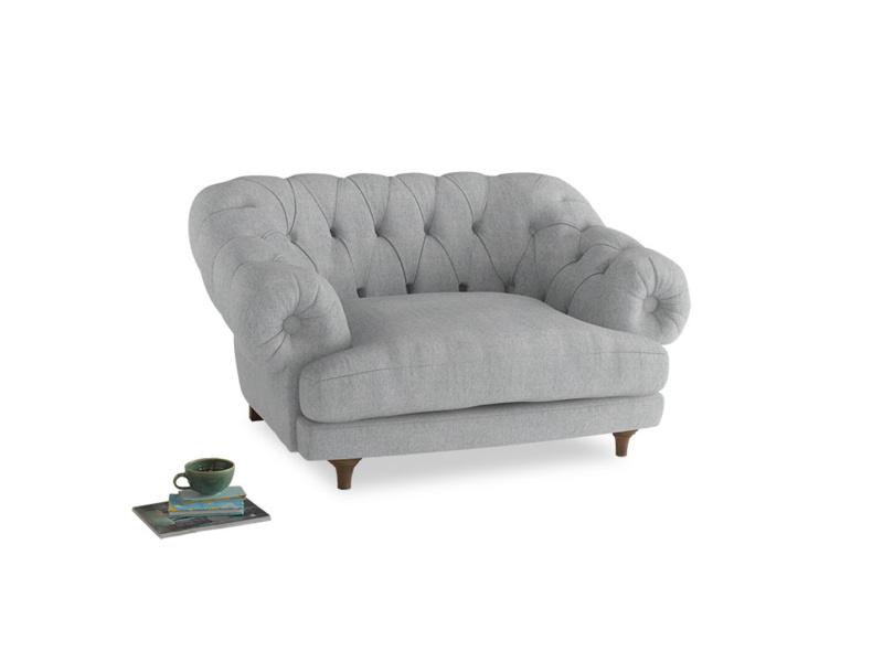 Bagsie Love Seat in Pebble vintage linen