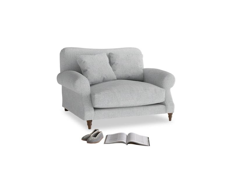 Crumpet Love seat in Pebble vintage linen