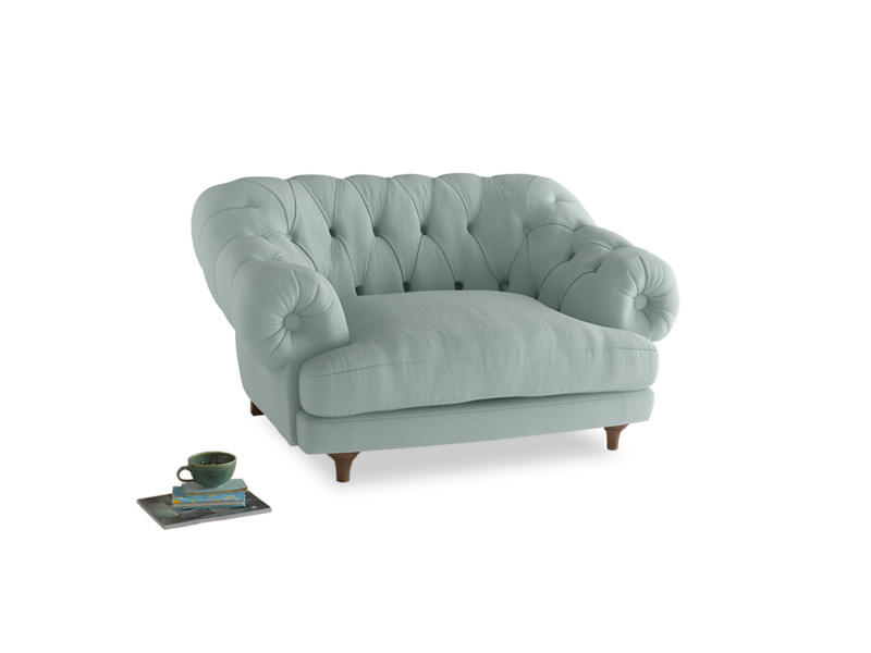 Bagsie Love Seat in Gull's Egg Brushed Cotton