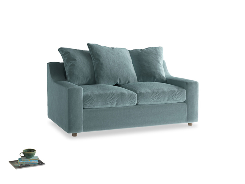 Small Cloud Sofa in Lagoon clever velvet