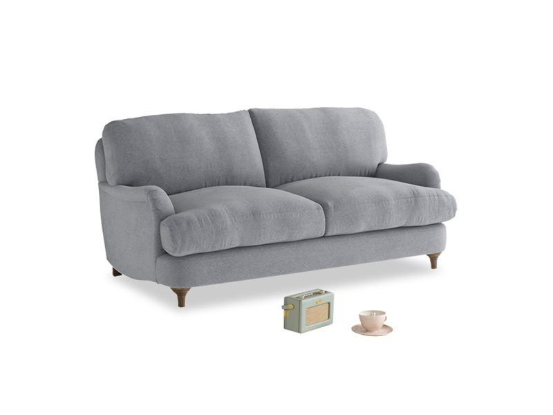 Small Jonesy Sofa in Dove grey wool