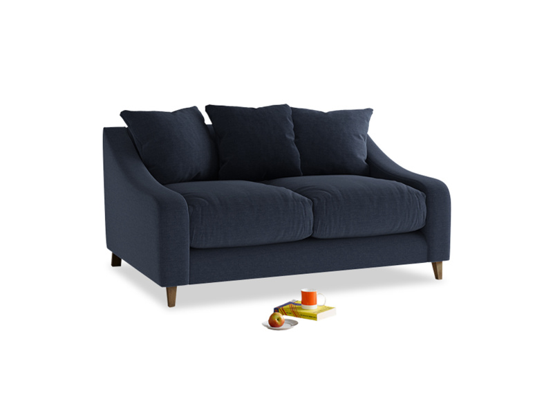 Small Oscar Sofa in Indigo vintage linen