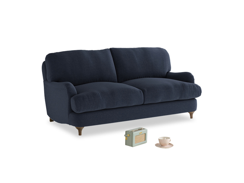 Small Jonesy Sofa in Indigo vintage linen