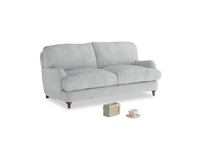 Small Jonesy Sofa in Pebble vintage linen