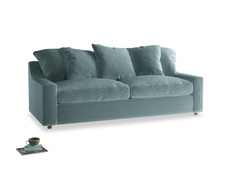 Large Cloud Sofa in Lagoon clever velvet