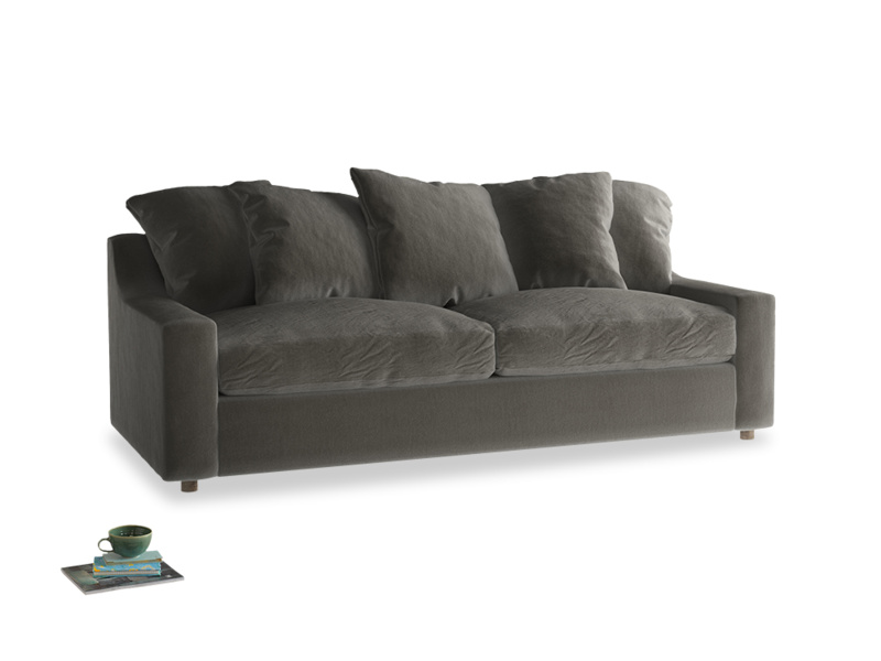 Large Cloud Sofa in Slate clever velvet