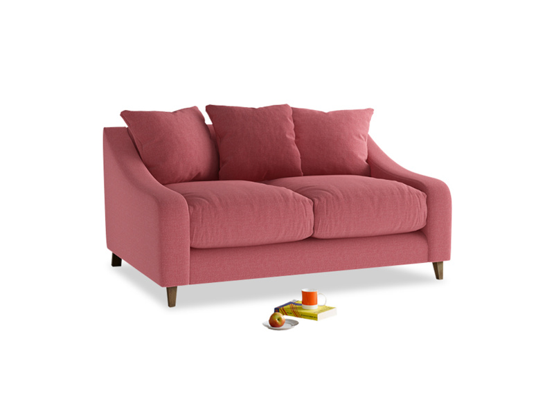 Small Oscar Sofa in Raspberry brushed cotton