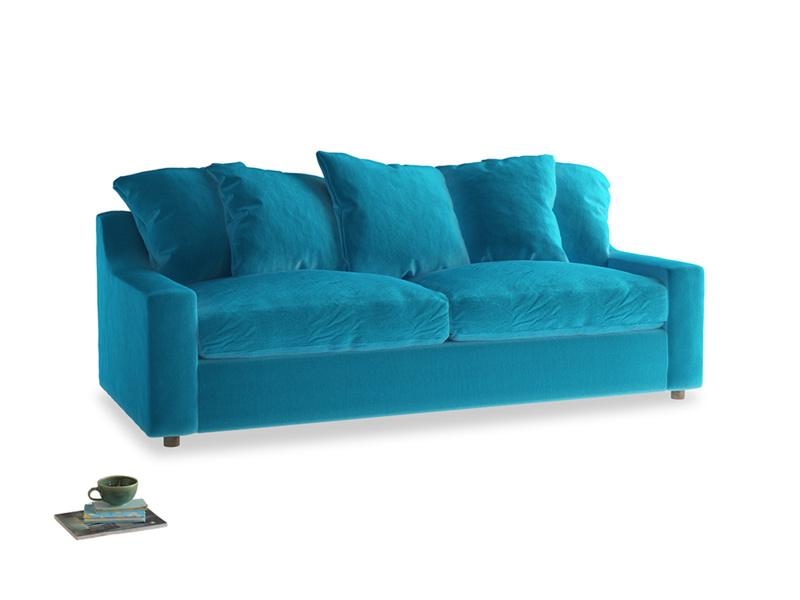 Large Cloud Sofa in Azure plush velvet