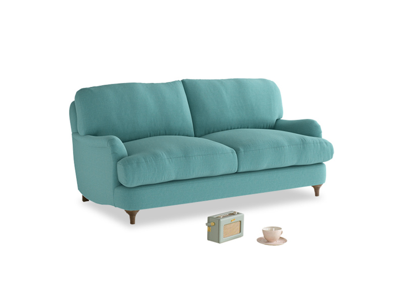 Small Jonesy Sofa in Peacock brushed cotton