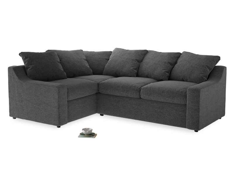 Large Left Hand Cloud Corner Sofa in Shadow Grey wool