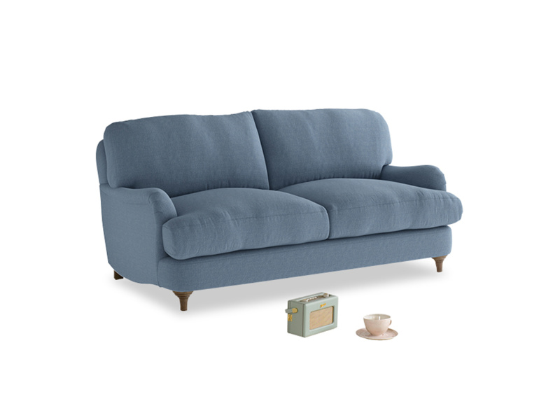 Small Jonesy Sofa in Nordic blue brushed cotton
