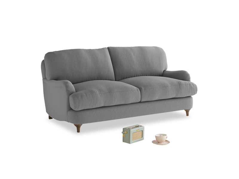 Small Jonesy Sofa in Gun Metal brushed cotton