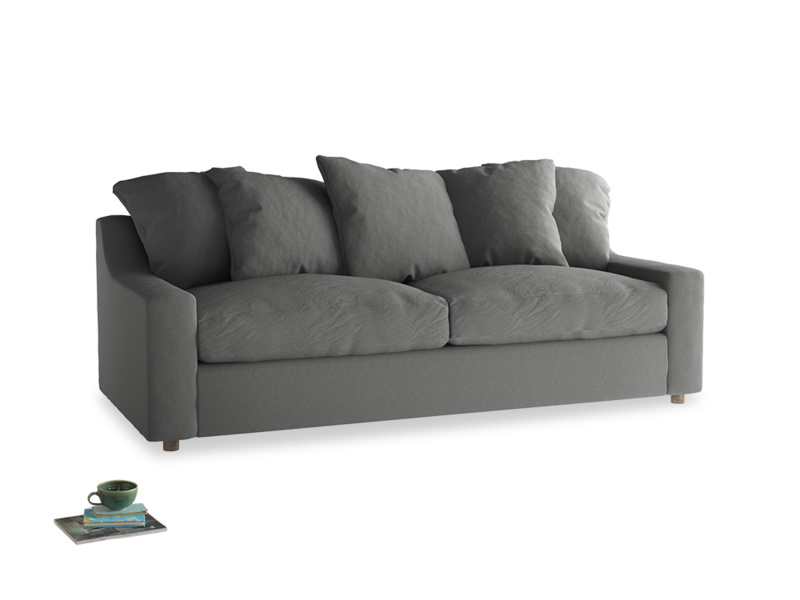 Large Cloud Sofa in French Grey brushed cotton